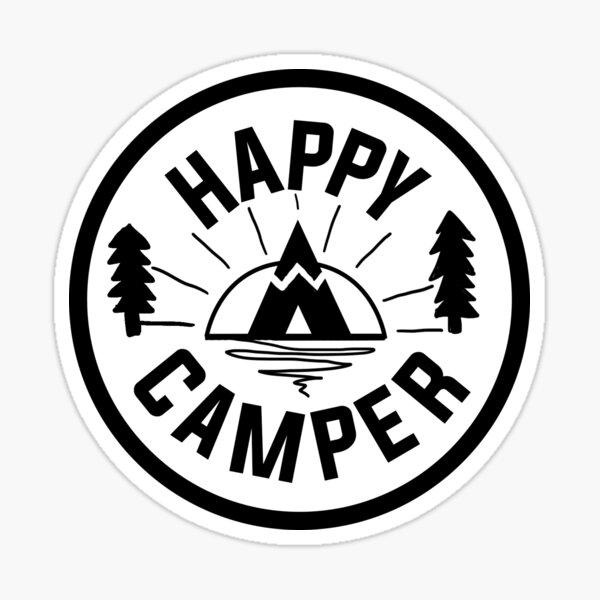 Campeur heureux Sticker
