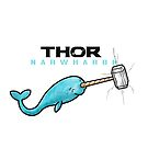 Hammer of Thor Narwharok Narwhal Funny Graphic Parody (dark font) by DesIndie