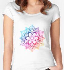 Warm Mandala Women's Fitted Scoop T-Shirt