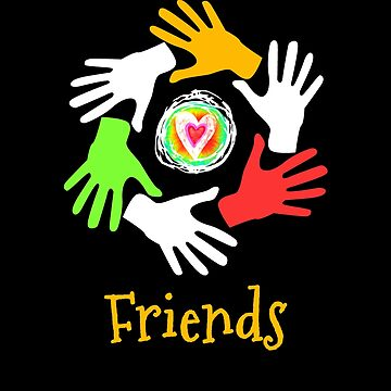 Friends Circle Of Hands by transferarts