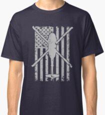UH60 Blackhawk Vintage Flag Design Classic T-Shirt