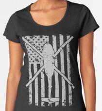 UH60 Blackhawk Vintage Flag Design Women's Premium T-Shirt