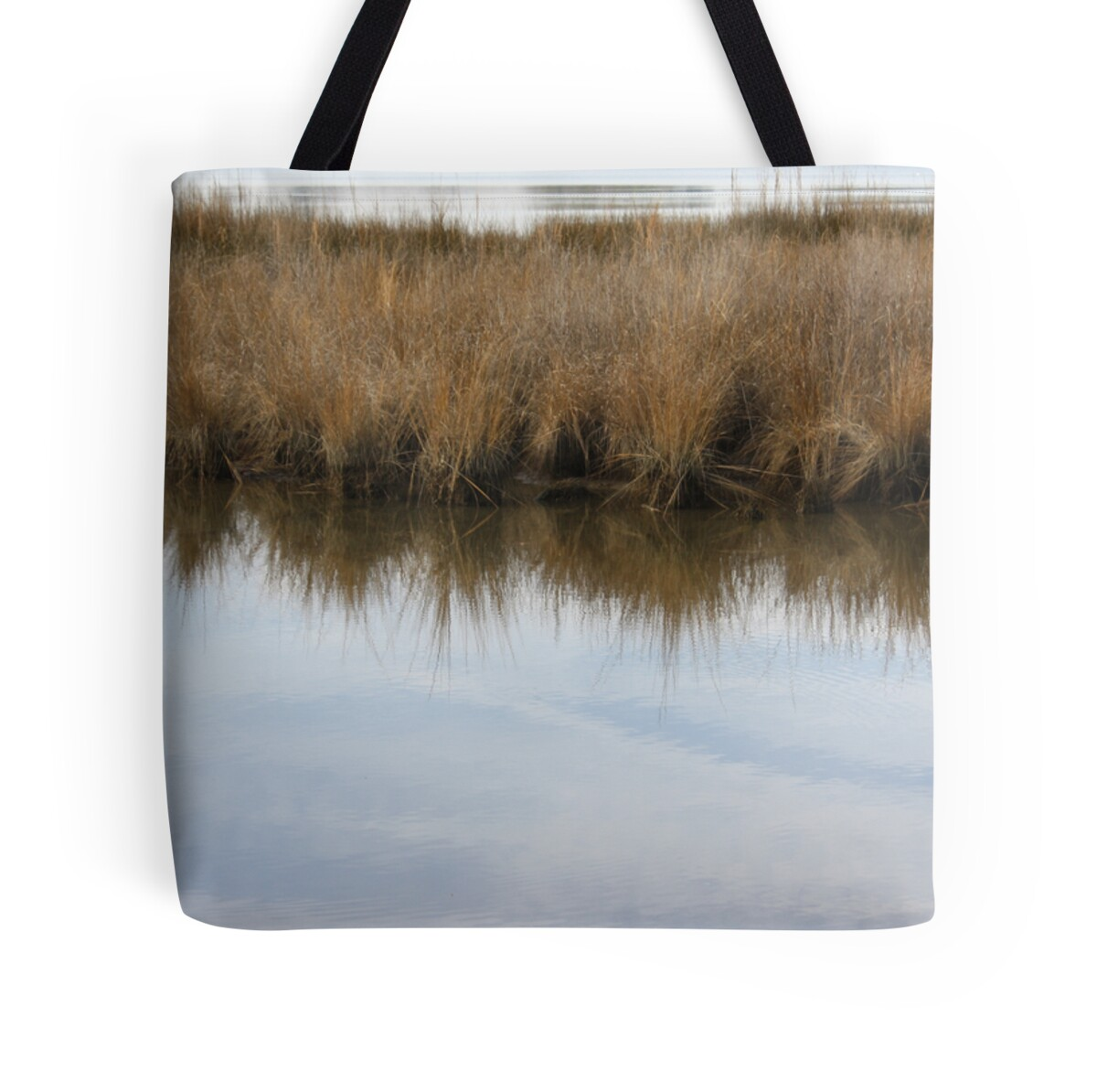 """My Soul Has Grown Deep Like The Rivers"" Tote Bags By"