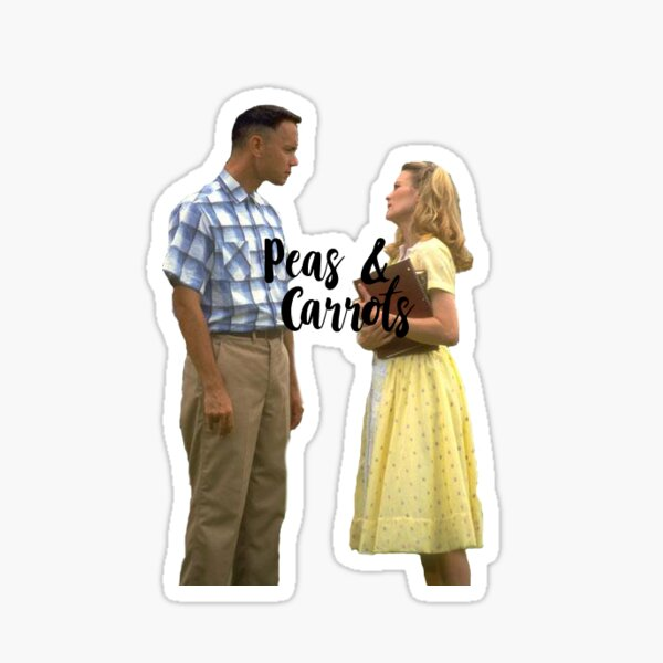 Forrest Gump Peas and Carots Sticker