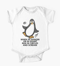 When in Danger or in Doubt Funny Penguin  Kids Clothes
