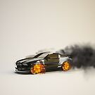 Burning car by logoferoz