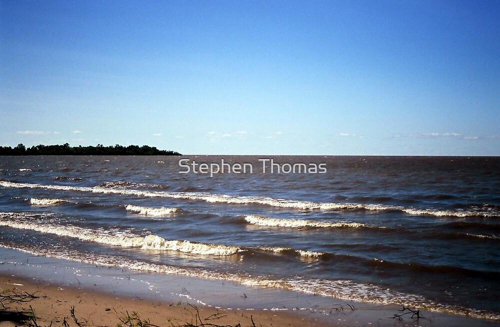 View from Patricia Beach (Lake Winnipeg) by Stephen Thomas