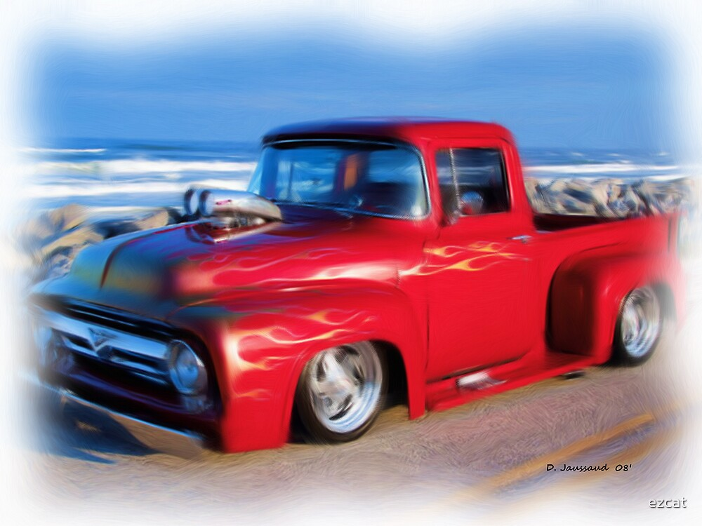 Red Ford F-100 by ezcat