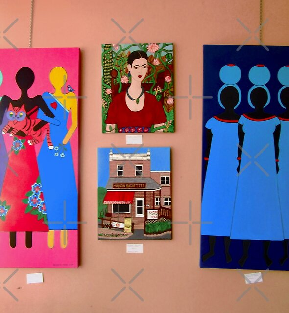 My Paintings at the show at Oh So Good Restaurant, Ottawa, ON by Shulie1