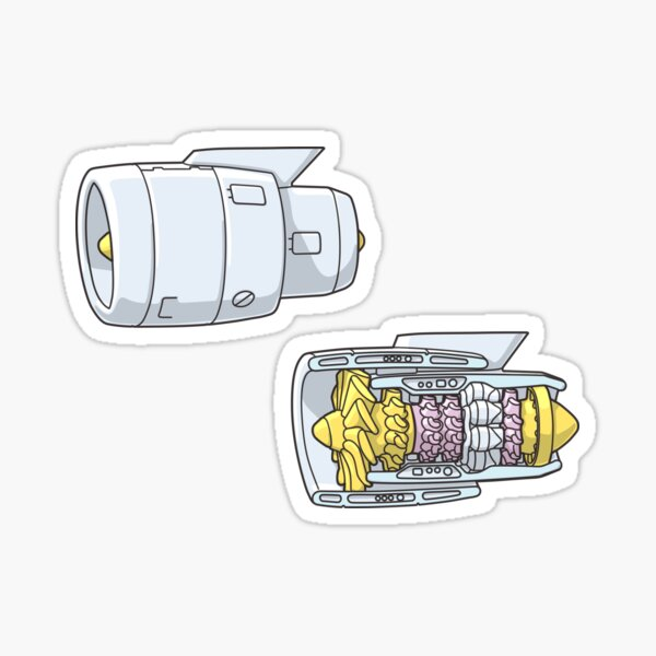 Turbofan Jet Engine Sticker