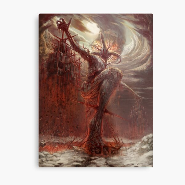 God of Pain Metal Print