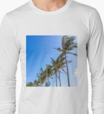 Palm Trees, Blue Sky Long Sleeve T-Shirt