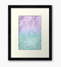 Sparkling MERMAID Girls Glitter Heart #1 #decor #art Framed Print