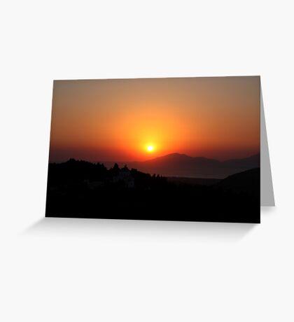 Zia Sunset Greeting Card