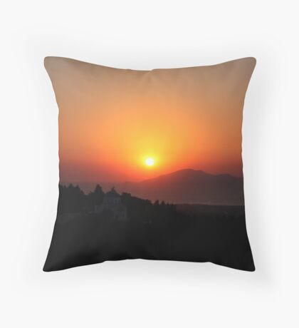 Zia Sunset Throw Pillow