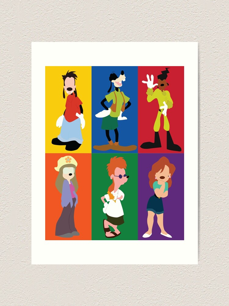 Goofy Movie Characters Art Print By Ehaverstick Redbubble