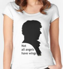 Not All Angels Have Wings - BBC Sherlock Women's Fitted Scoop T-Shirt