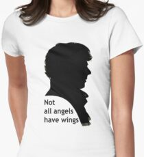 Not All Angels Have Wings - BBC Sherlock Women's Fitted T-Shirt