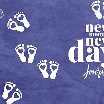 NEW MOMMY NEW DAY (BLUE) JOURNAL by alegnacreates
