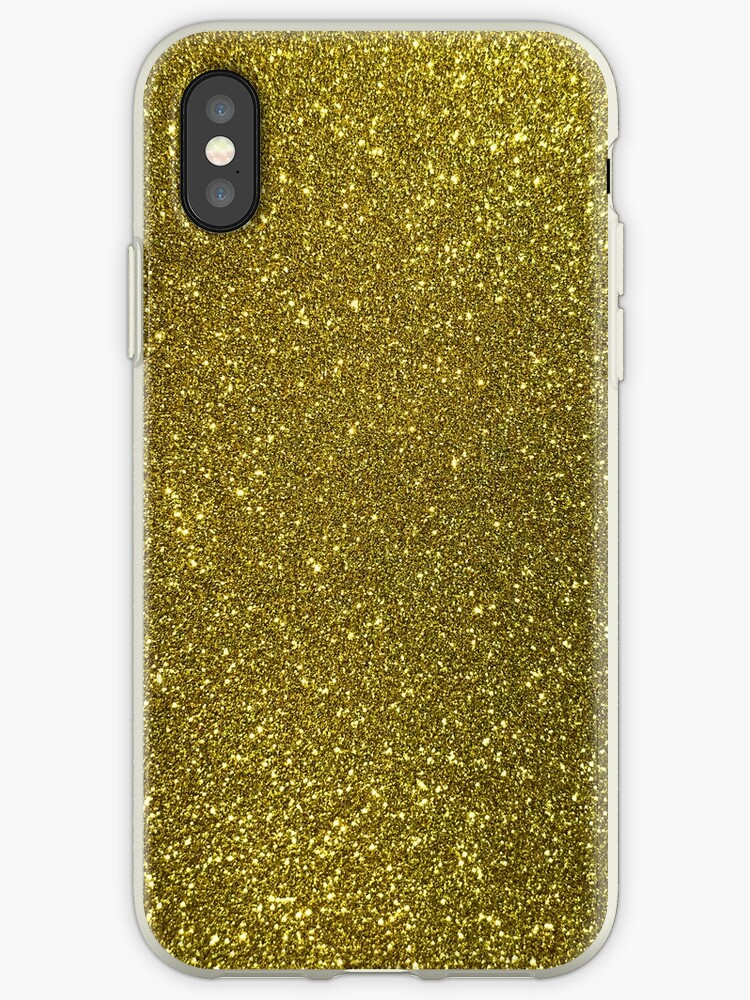 info for a3457 fcb35 'Classic Bright Sparkly Gold Glitter' iPhone Case by honorandobey