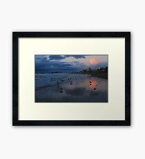 December evening clouds at Scheveningen Framed Print