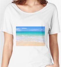 Tropical Beach Relaxed Fit T-Shirt