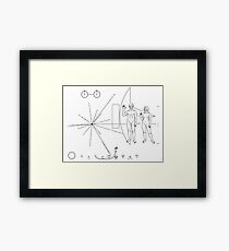 """Pioneer plaque """"Too small !"""" Framed Print"""