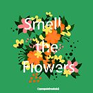 Smell the Flowers Floral Typography by Stephanie Hardy