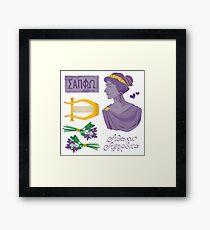 Sappho Set Framed Print