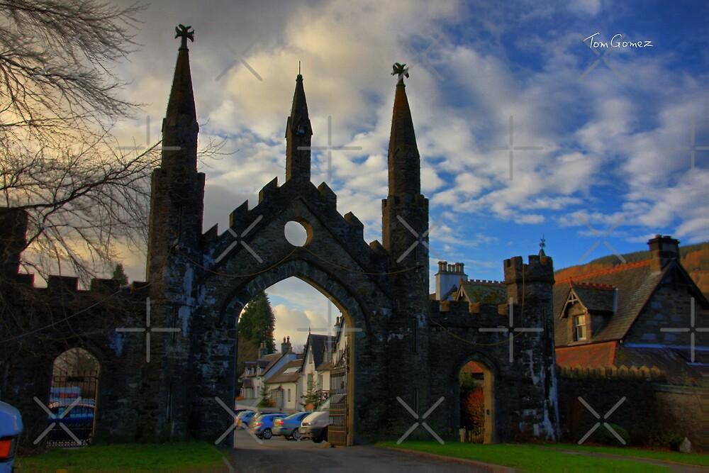 Taymouth Castle Gate by Tom Gomez