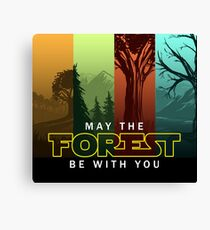 May The Forest Be With You - Frontoni Design Canvas Print