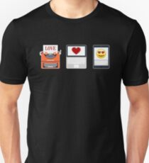 Evolution Of Type Emoji Heart Unisex T-Shirt