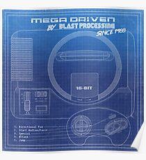 Sega MegaDrive/Genesis - Megadriven by Blast Processing Poster