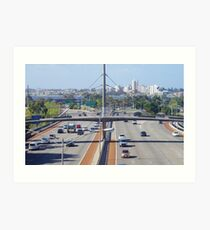 Perth City Highway Art Print