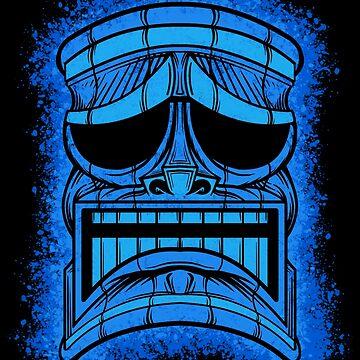 Tiki Head 2 by JCoulterArtist