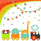 Circus train by Elsbet