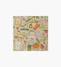 Retro kitchen. Art Board
