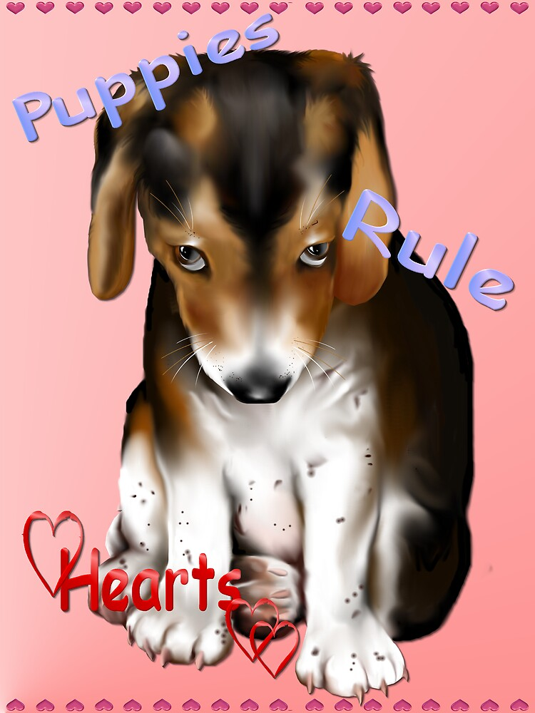 Puppies Rule Hearts by Lotacats