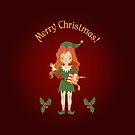 """Greeting Card """"Merry Christmas""""  by Elsbet"""