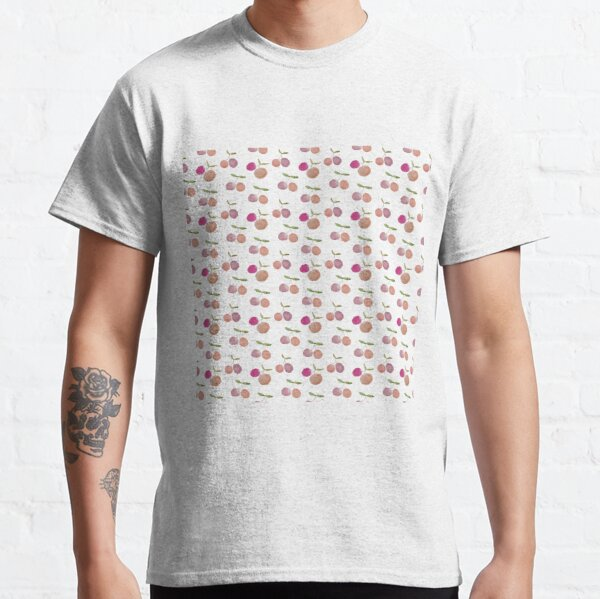 Cherries Watercolor Pattern Classic T-Shirt