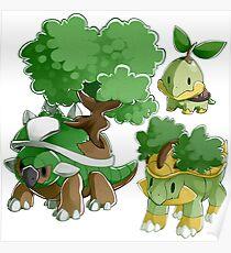 Sinnoh Project - Grass Starter Trio Poster