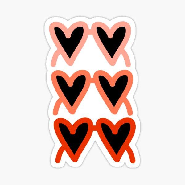 Heart sunglasses pattern Sticker