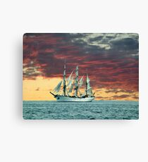 Quiet Evening at Sea Canvas Print