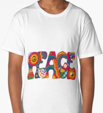Psychedelic Peace Long T-Shirt