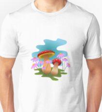 T shirts colorful mushroom sticker champignon Unisex T-Shirt