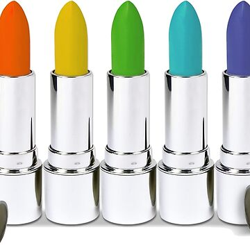Colorful Lipstick Rainbow - Spectral Colors by mkybb
