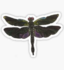 Colorful Detailed Dragonfly Sticker