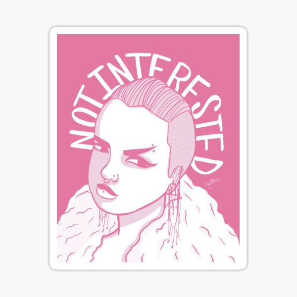 Not interested 2 Sticker