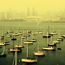Tiny Yellow Skyline by PeggySue67