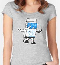 Milky Blur pixel art Women's Fitted Scoop T-Shirt